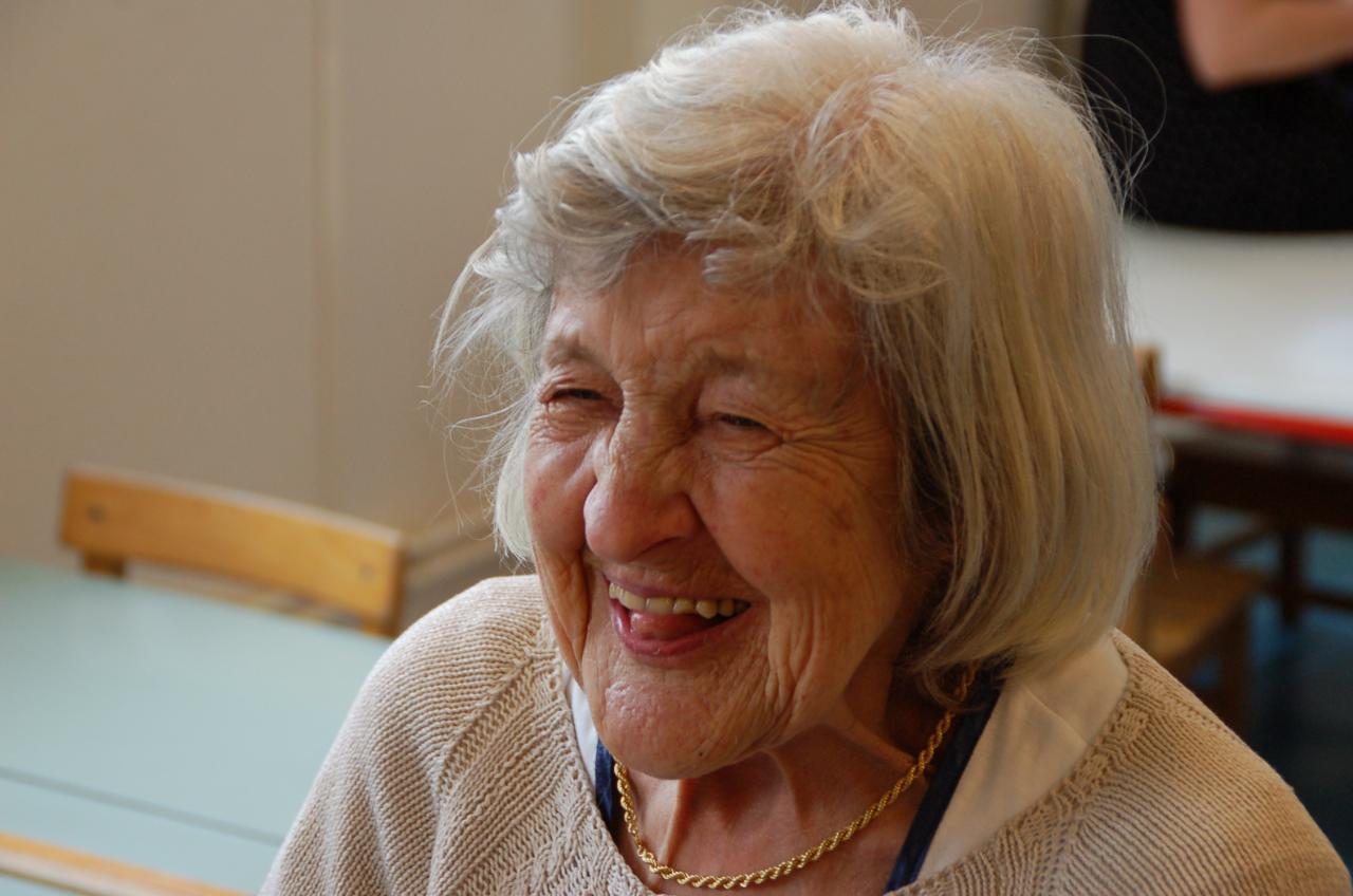 Un visage merveilleux ! Pensionnaire de l'EMS les Mimosas à Genthod