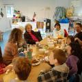 Goûter avec les pensionnaires de l'EMS les Mimosas - Genthod
