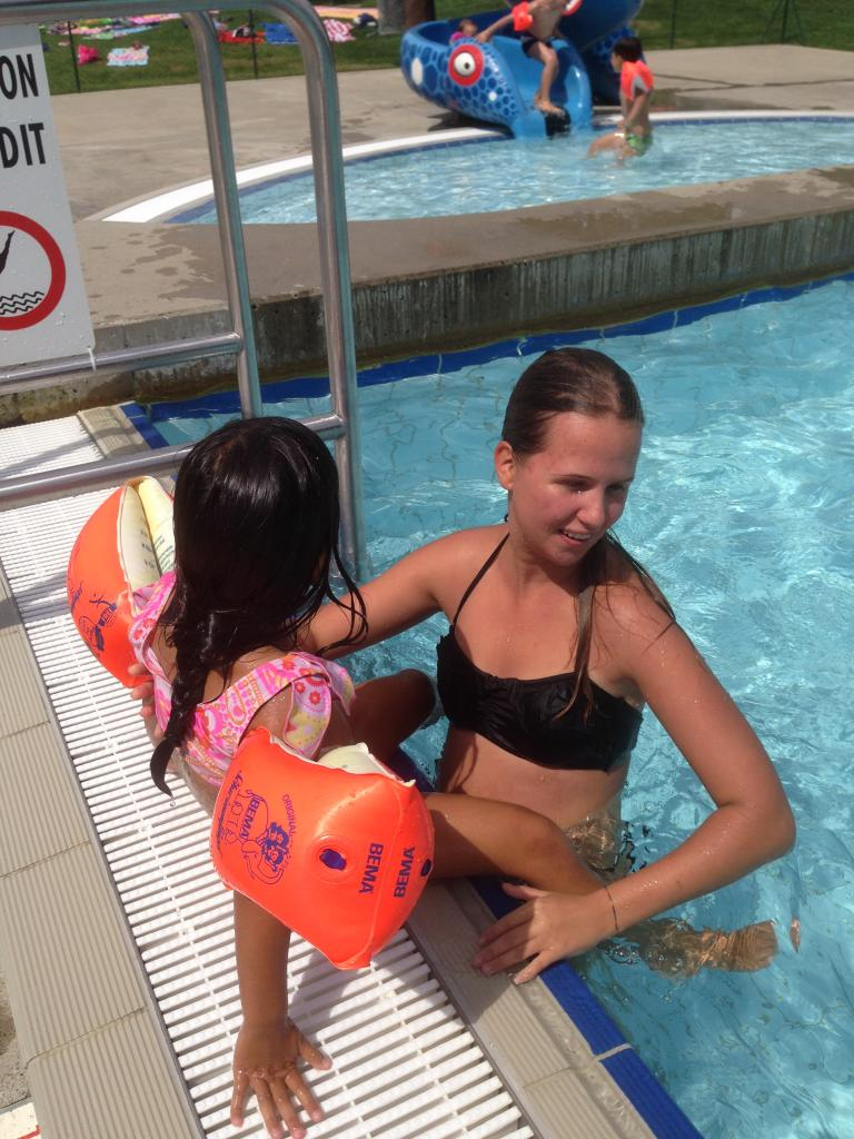 ... et maître nageur privé